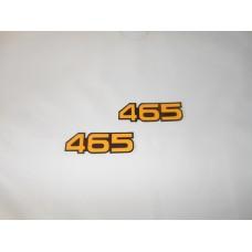 Adesivo Cilindrata RM 465 1982